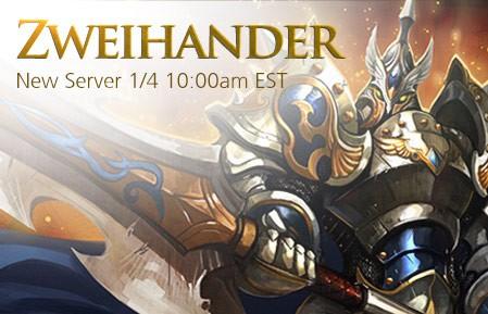 League of Angels New Server Zweihander