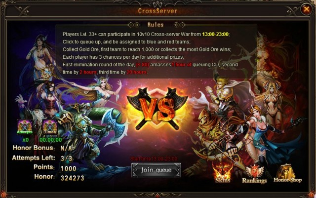 League of Angels Cross-server War