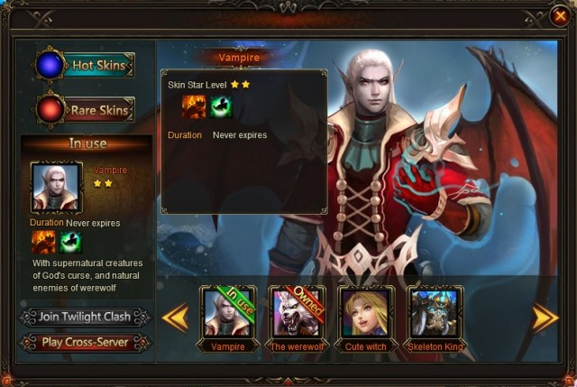 League of Angels Cross-server War Skins