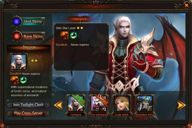 League of Angels Cross-server War Skins