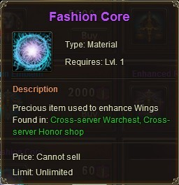 League of Angels Fashion Core