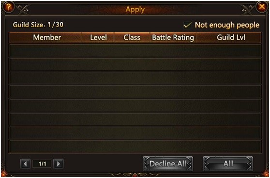 League of Angels Guild Apply