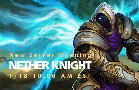 League of Angels New Server Nether Knight