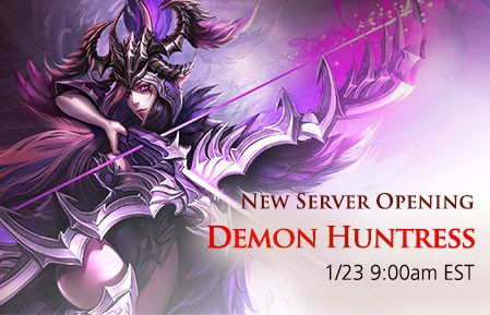 League of Angels New Server Demon Huntress