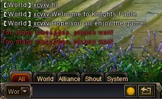 Knight's Fable_chat system